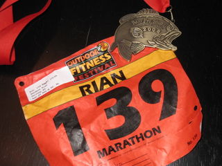 Rianman's Bib and Finisher's Medal