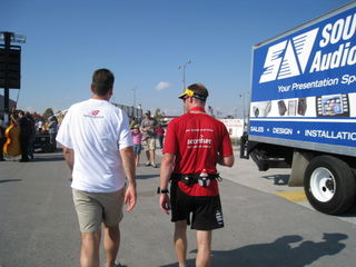 Marcus and Rian walking it out post race