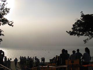 Fog over Longview Lake